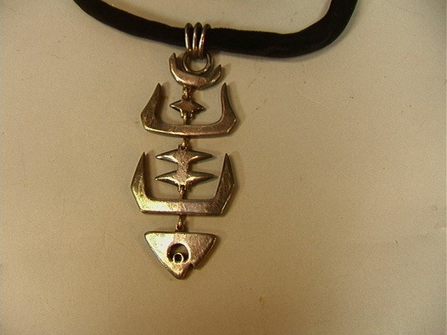 16: Salvador Teran Mexican Sterling Necklace Jointed
