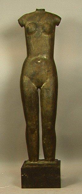 48: OSCAR JESPERS Art Deco Bronze Sculpture.  Belgium