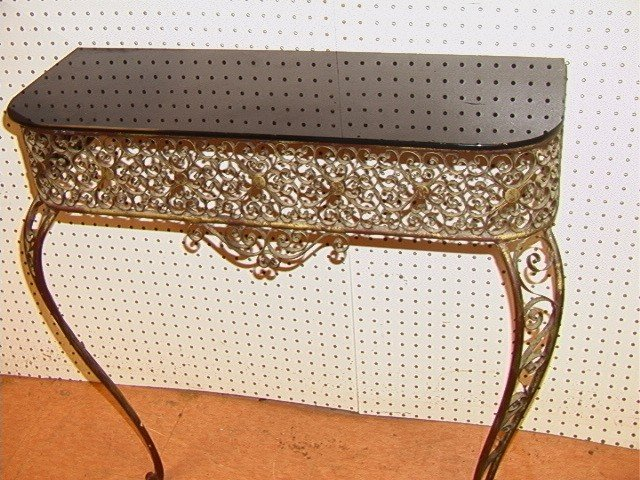 201: Fancy Decorative Hall Table with Mirror. Wall Mou - 2