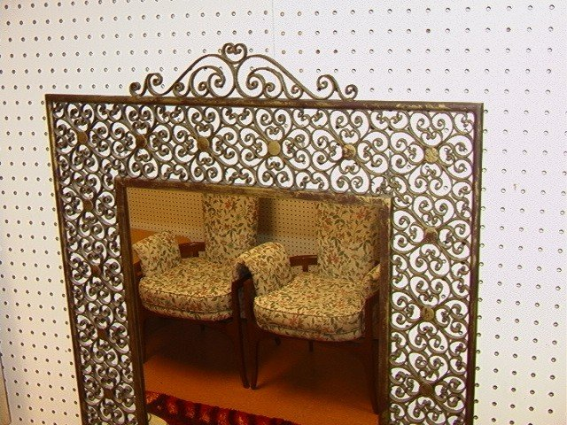 201: Fancy Decorative Hall Table with Mirror. Wall Mou - 3