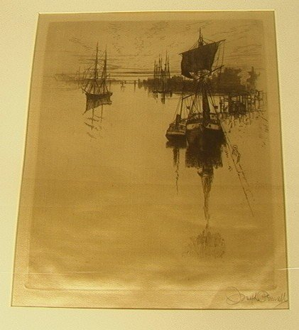 3: JOSEPH PENNELL Lithograph on Silk. Titled:  Below