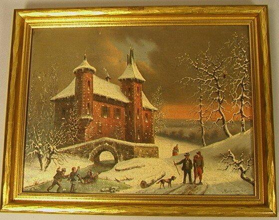 5: LOUIS CLAUDE MALLENBRANCHE Oil painting on Canvas