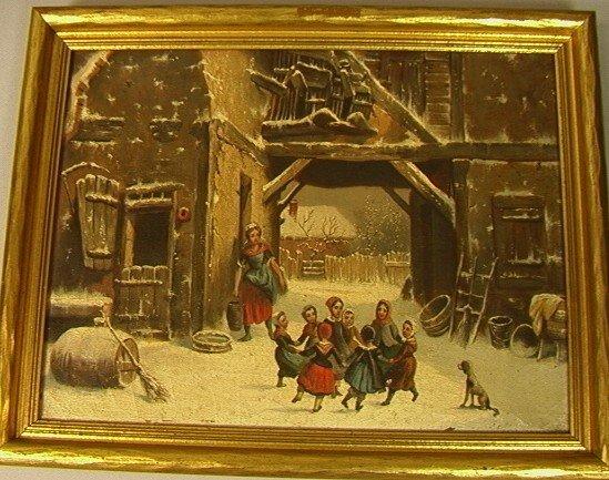 6: LOUIS CLAUDE MALLENBRANCHE Children Oil Painting