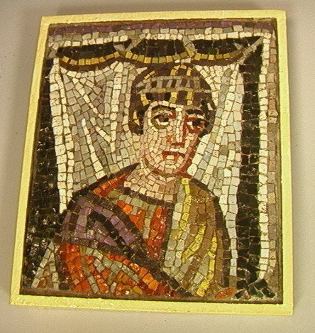 12: Italian Mosaic Portrait of Roman man.
