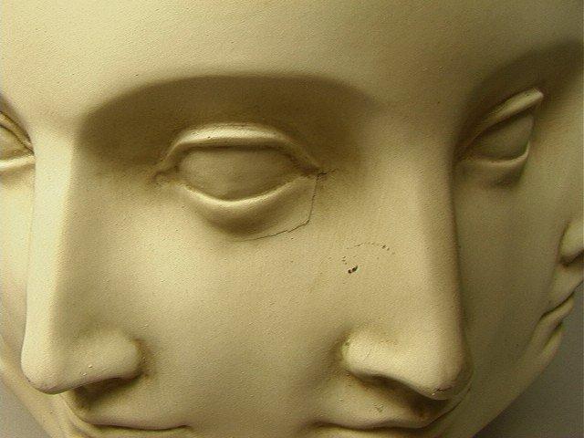 2: TMS 2005 Fornasetti Style Face Vase.  White. - 3