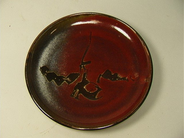 18: Walter Dexter Art Pottery Charger.  Signed