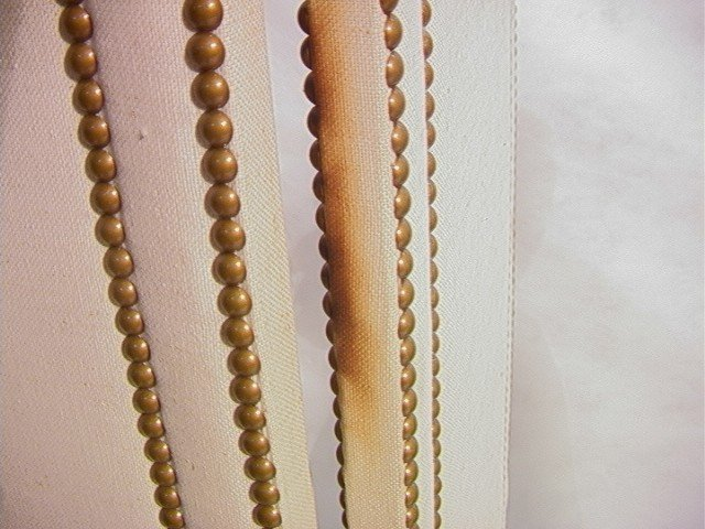 240: Studded Fabric Folding Screen Room Divider with t - 8