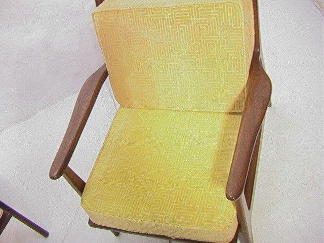 258: American Modern Walnut Lounge Chair.  Baumritter. - 2
