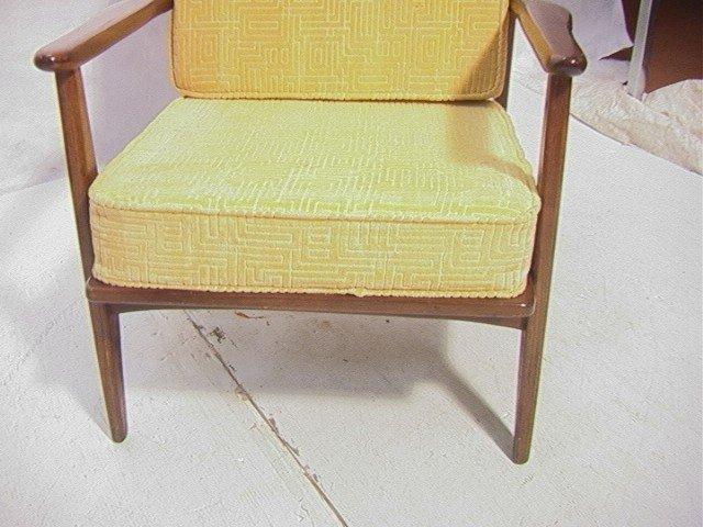 258: American Modern Walnut Lounge Chair.  Baumritter. - 4