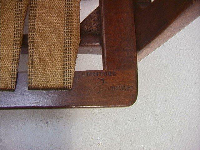 258: American Modern Walnut Lounge Chair.  Baumritter. - 7