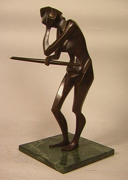 320: M Resnick Modernist Bronze Sculpture.  Signed on