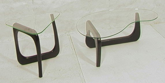 8: 2pcs NOGUCHI Style Tables.  Coffee and side table