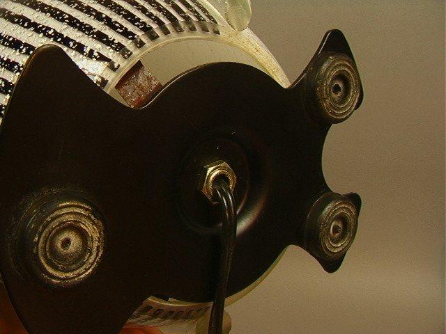 43: Murano Art Glass Penguin Lamp.  Silver flecked gl - 4