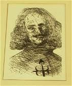 96 Salvador Dali Etching Print  Velazquez Portrait