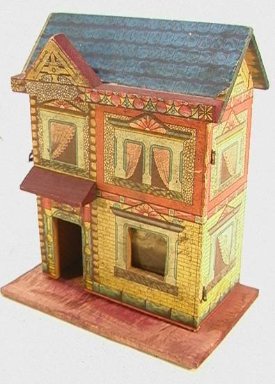 16: R Bliss Dollhouse 570 Wooden Litho   Dimensions:  H