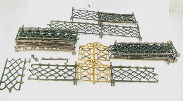 17: Victorian Doll Cast Iron Fence Gates2 - 2 piece gat