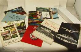 122 11 VINTAGE Car Auto Brochures Ford DESOTO Chevy B