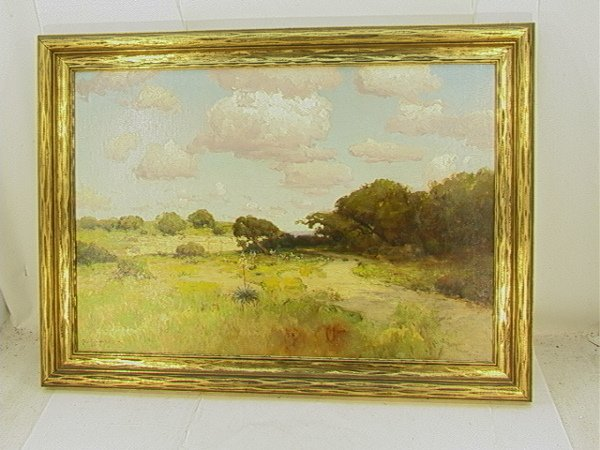 "617: JULIAN ONDERDONK oil on canvas 1911 ""Abandoned Qua"