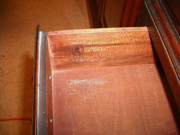 701: KINDEL MAHOGANY Queen Anne Highboy Dresser.  Bonne - 4