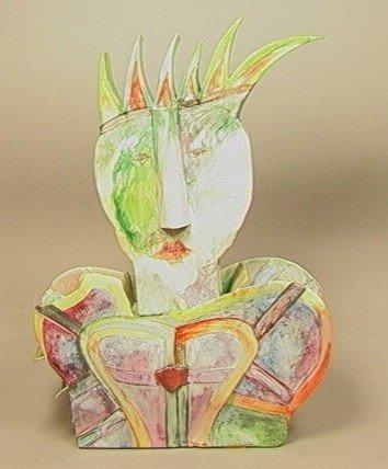 8: WLADYSLAW GARNIK, Poland, Ceramic Sculpture Bust.