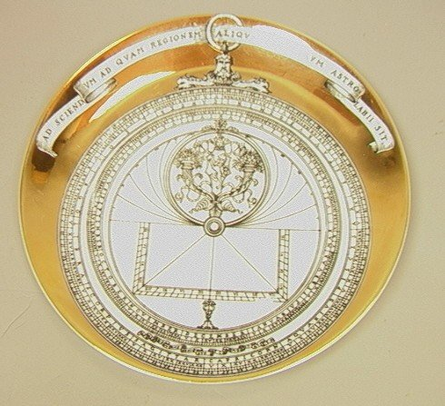 24: PIERO FORNASETTI Plate Astrolabio. Italian. Milan