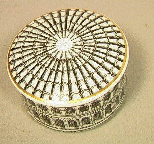 25: PIERO FORNASETTI Porcelain Lidded Box Bowl PALLAD