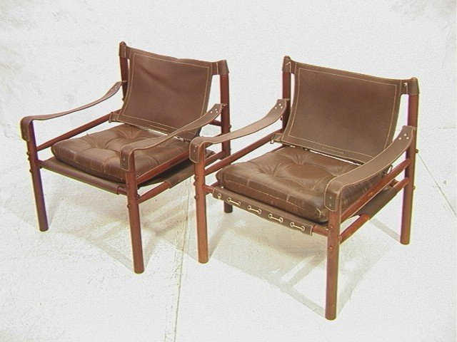 Pr Safari Chairs KAARE KLINT style Leather & Wood