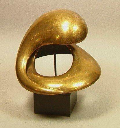 216A: KAROLY VERESS Large Bronze Sculpture.  Organic sw
