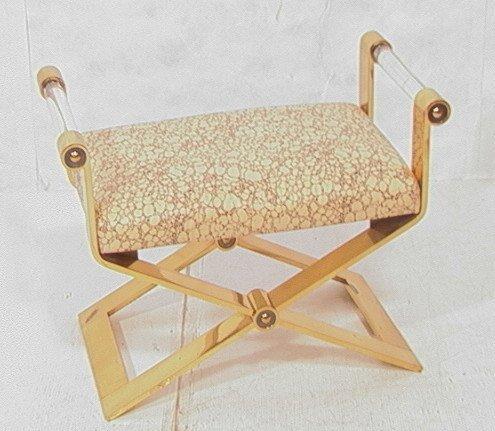 "11: Super Heavy Brass Lucite CARL SPRINGER Bench. ""X"""