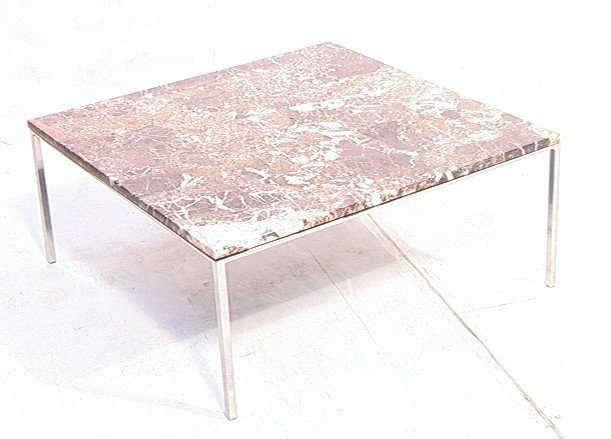 """12: NICOS ZOGRAPHOS Marble Top Cocktail Table. 1"""" thi"""