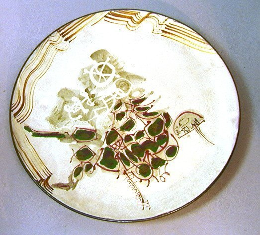 18: GILBERT PORTANIER Pottery Hand Decorated Charger.