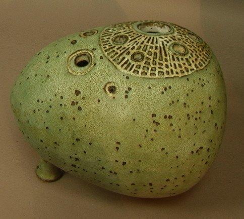 19: Signed HOCKS? Ceramic Pottery Vase. Organic form