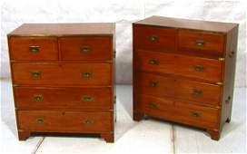 165 PR Tall CAMPAIGN Dresser 5 Drawer Chests Vintage