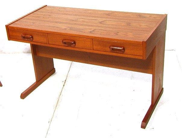 169: VI-MA MOBLER Danish Modern Teak Wood Desk. Three