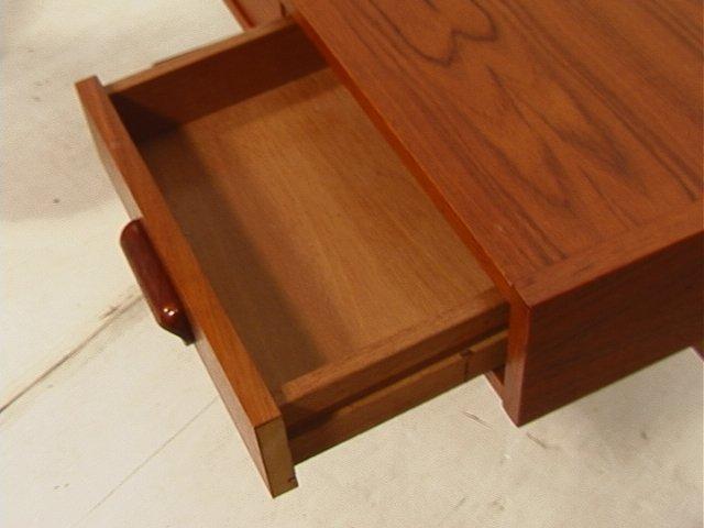 169: VI-MA MOBLER Danish Modern Teak Wood Desk. Three - 4