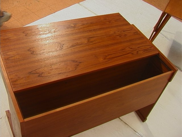 169: VI-MA MOBLER Danish Modern Teak Wood Desk. Three - 6