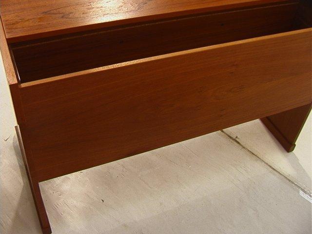 169: VI-MA MOBLER Danish Modern Teak Wood Desk. Three - 7