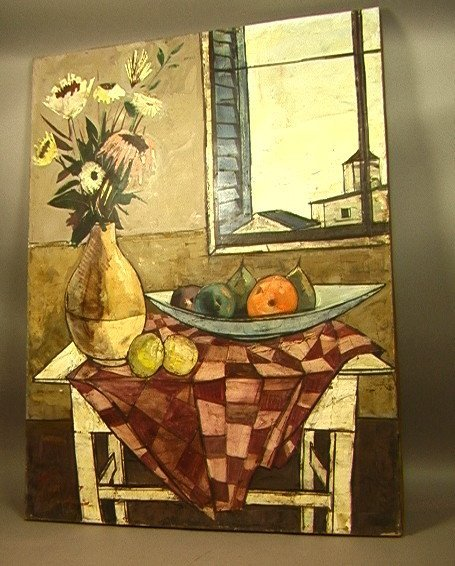 216: CHARLES LEVIER Oil Painting on Canvas. Still Life