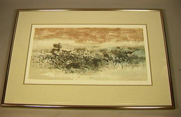 """225: ZAO WOU-KI """"Gravure 4"""" #286. 1960-61. Abstract La"""