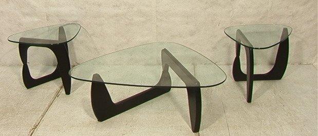 451 3 PCS NOGUCHI style Table Set 2 End Tables 1 C