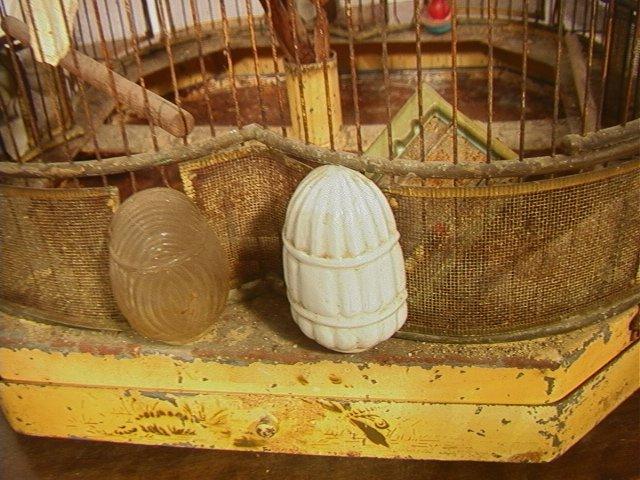 504: Antique Wire Metal Bird Cage. Fancy Decorative Ca - 3