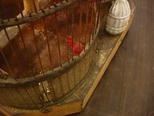 504: Antique Wire Metal Bird Cage. Fancy Decorative Ca - 7