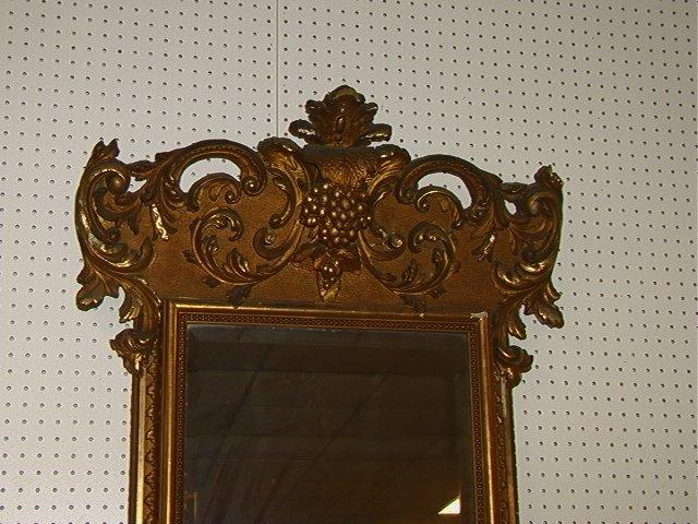 508: Antique Victorian Gold Gilt Pier Mirror with Matc - 2