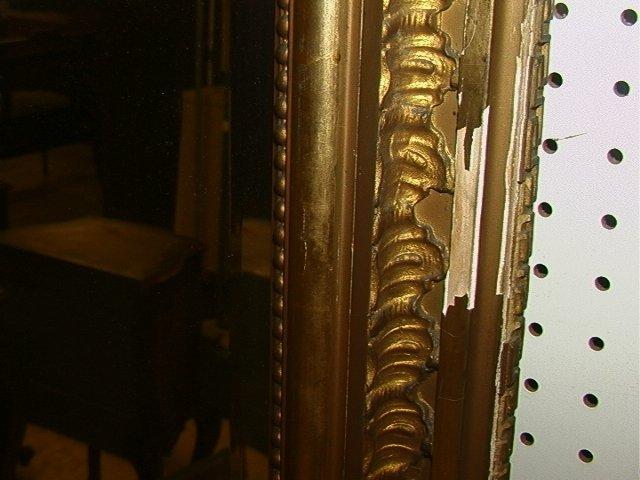508: Antique Victorian Gold Gilt Pier Mirror with Matc - 5