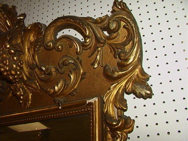 508: Antique Victorian Gold Gilt Pier Mirror with Matc - 6