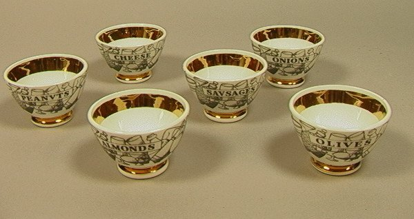 15: FORNASETTI Set 6 Snack Bowls. 6 small bowls each