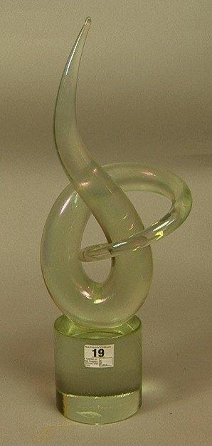 19: B. AUSTRA Art Glass Sculpture.  Iridescent Finish