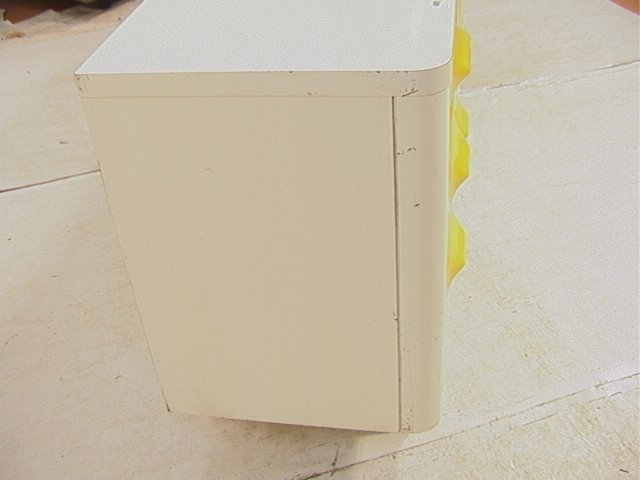 689: BROYHILL Yellow & White Plastic Dresser. Molded y - 4