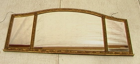 2: Gilt Gessoed Carved Wood Three Section Mirror.