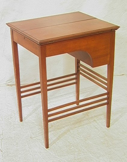 11: Antique Lift Top Writing desk.  Tapered Legs.